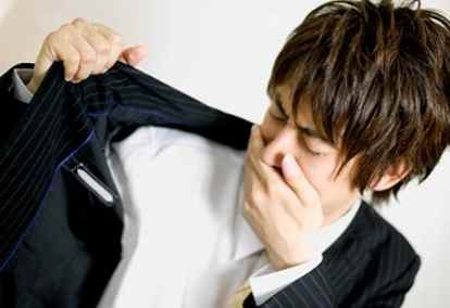How does anxiety cause body odor